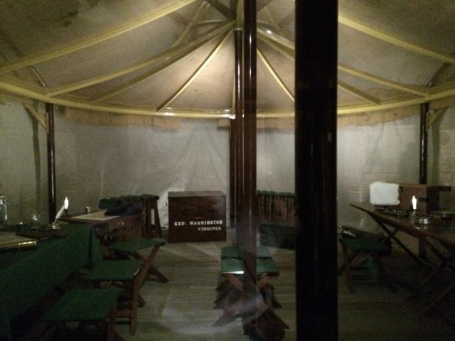 Washington's field tent