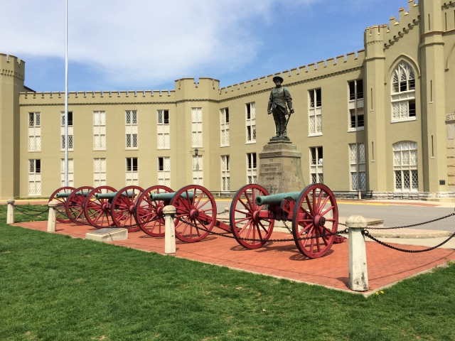VMI Parade Grounds with actual cannons used by Jackson