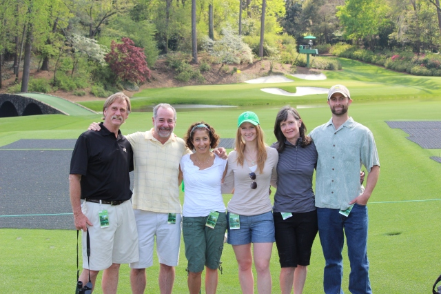 Us with our hosts, Ric, Courtney, Debbie, and Jordan Jeffries at Amen Corner