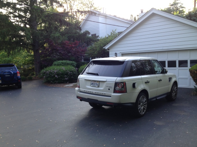 this one is for you Barry!  The Range Rover visits the Altshuler home.