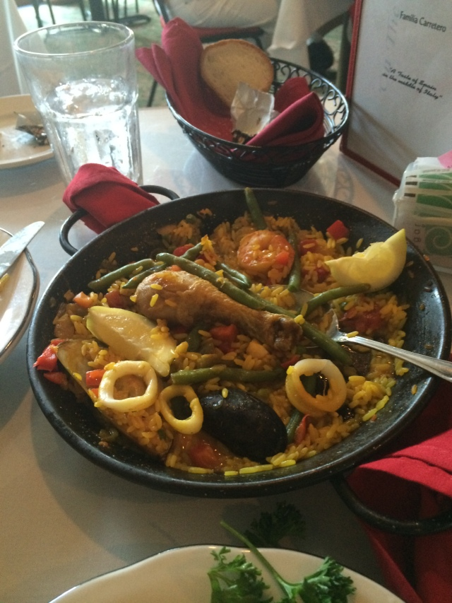 """Seafood Paella (turns out Guido's is """"A Taste of Spain in the Middle of Italy"""""""