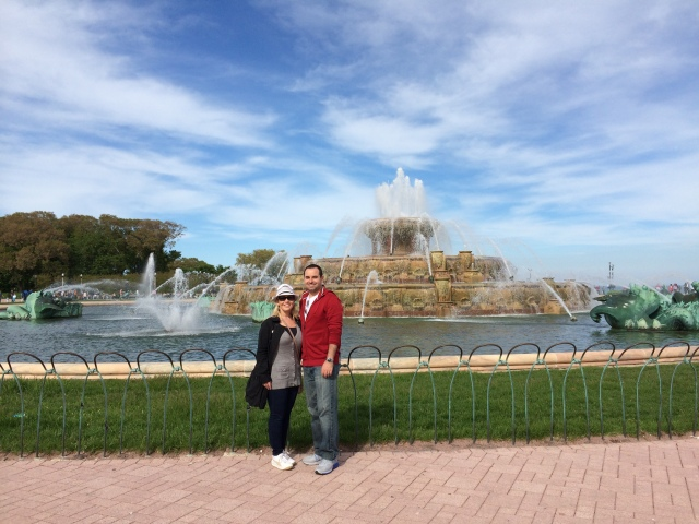 Buckingham Fountain (maybe the only people there not taking wedding or quinceanera photos)