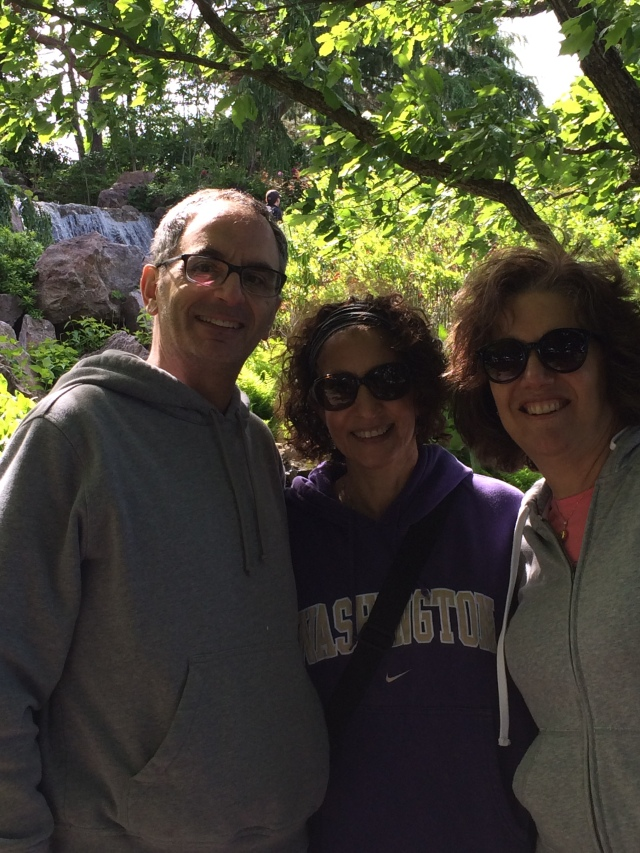With Barry and Claudia in the Japanese Garden