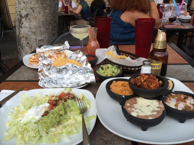 Taco Bar dinner at Cazuela's