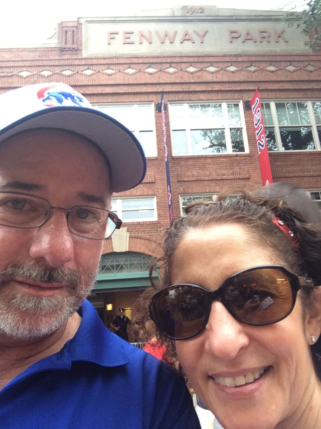on Yawkey Way in front of Fenway