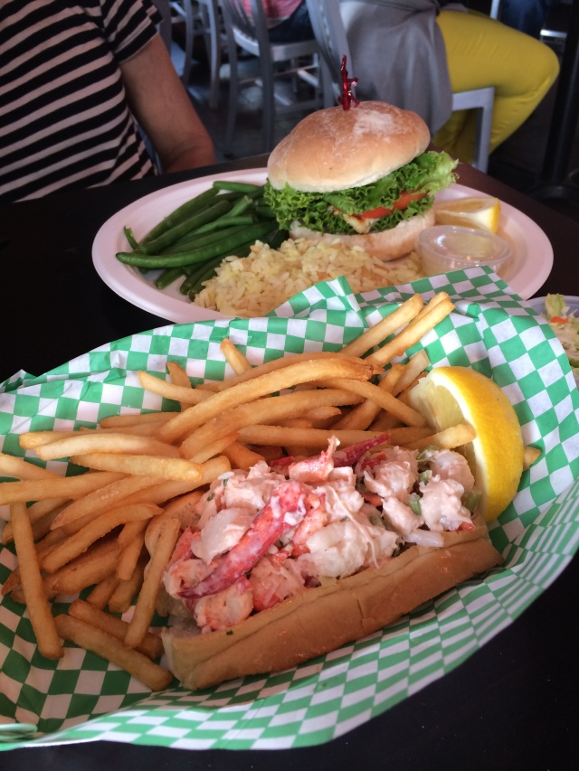 Lobster Roll and Fish Sandwich