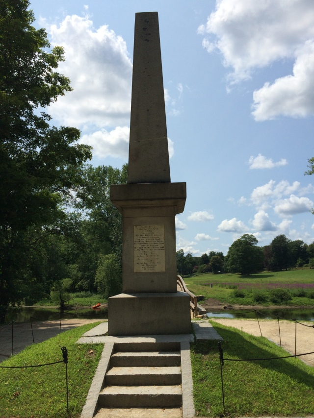 Memorial Obelisk on East Bank where British suffered their first casulaities of the war.