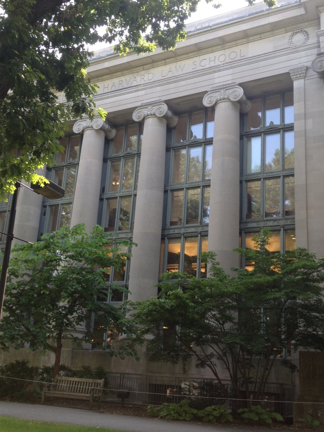 One of the many buildings at Harvard Law School.