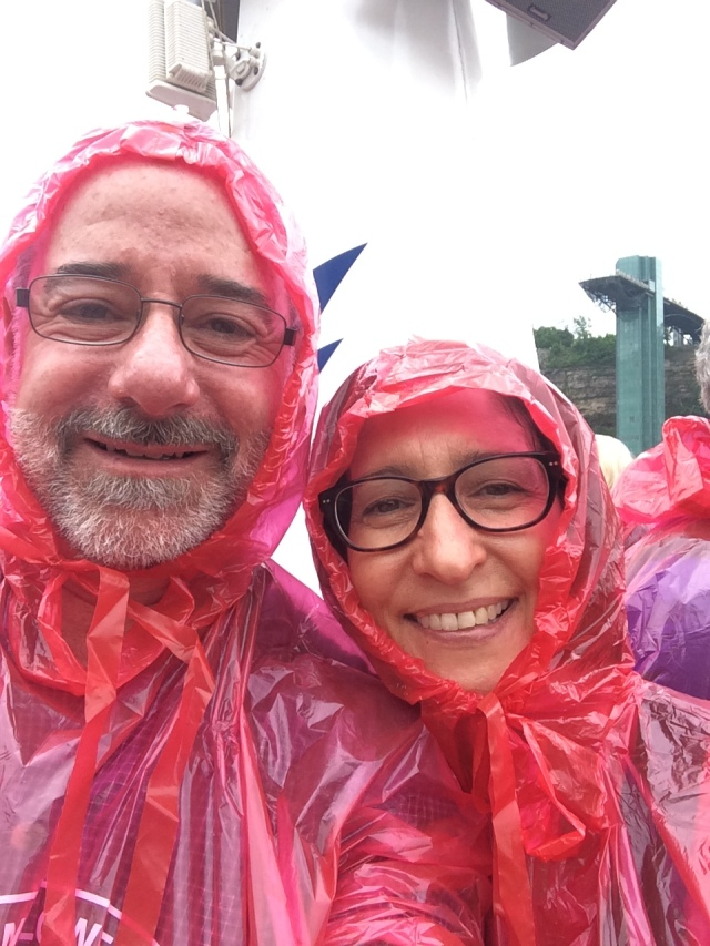 In our Hornblower ponchos