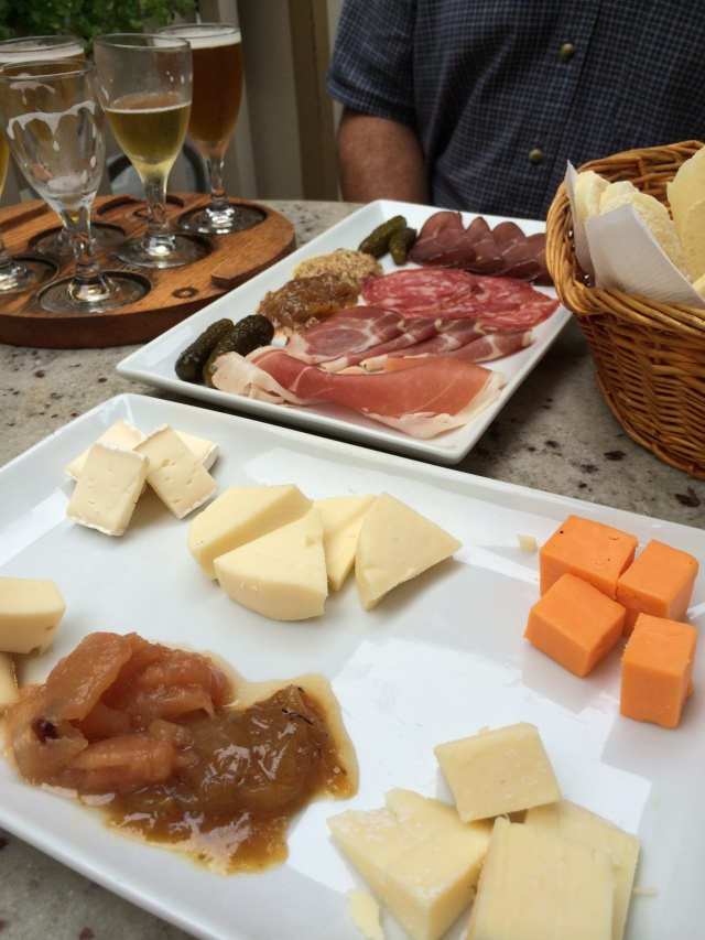 Charcuterie and a Cheese plate