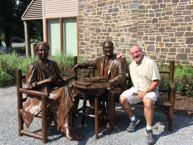 On the bench with FDR and ER.