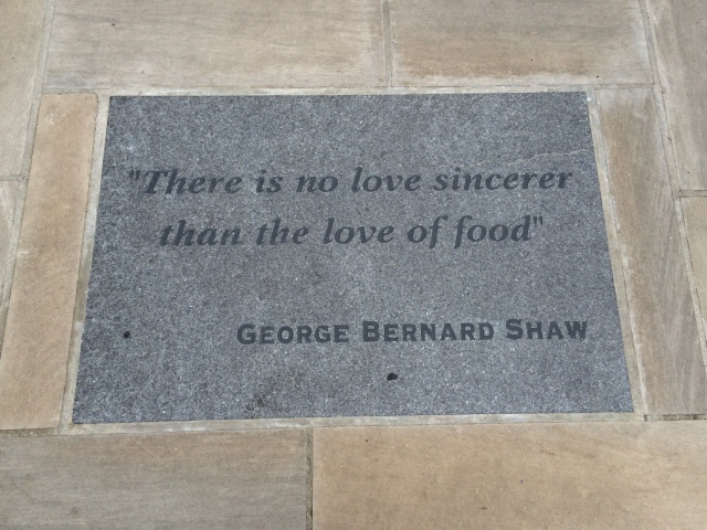 Would love to have had a meal with George