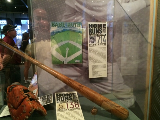 The Babe's bat he used to hit number 714