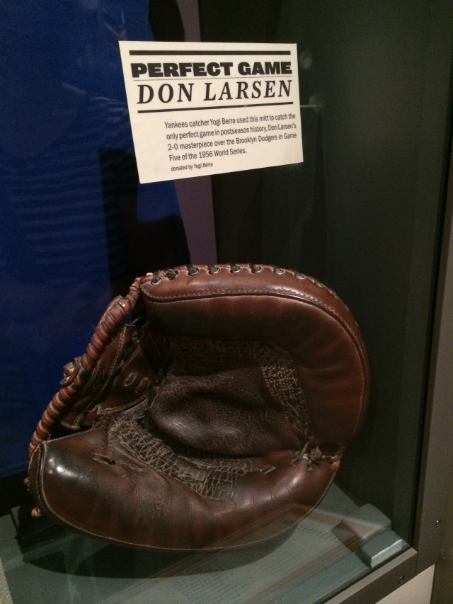 Yogi Berra's glove used to catch Don Larson's WS perfect game.