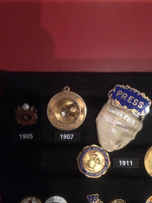 Cubs 1907 WS victory pin (LOL)