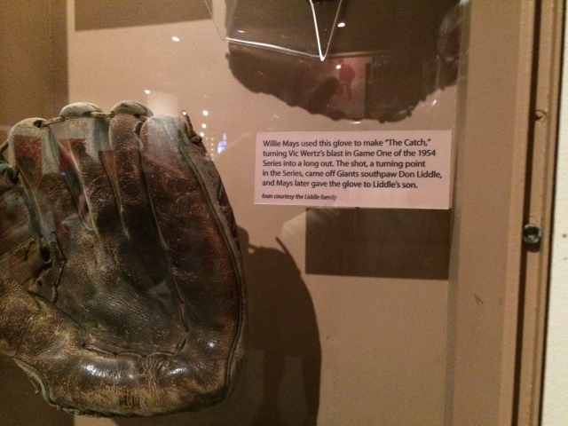 Willie May's famous WS catch glove