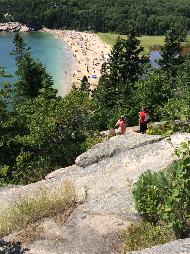 Climb down to Sand Beach from Great Head...oye