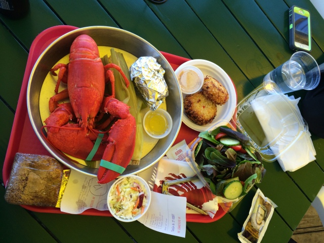 After (yes, I actually felt kind of bad.....but really enjoyed Lobster dinner #3)
