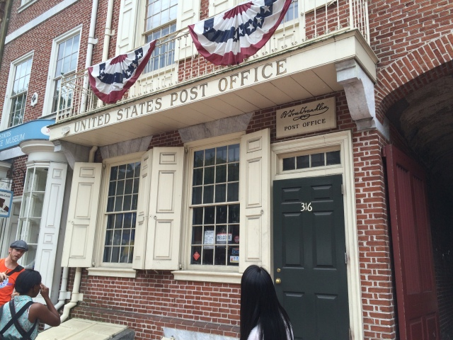 First Post Office (owned by Ben Franklin)