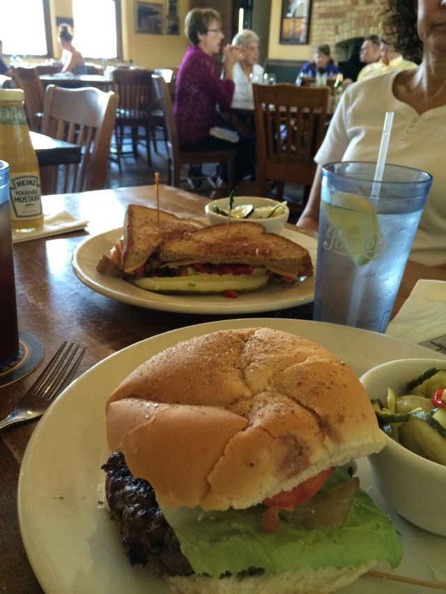 Lunch at Titletown Brewing Company in Green Bay Veggie Melt & Burger
