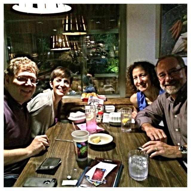 Brian & Debbie with us at Bob Chinn's