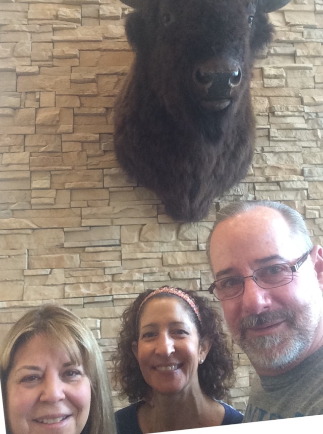 Hanging with the Cambria Suites mascot in Rapid City, South Dakota