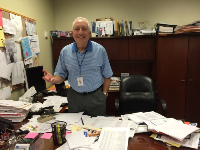 Robin's brother Mark in his office