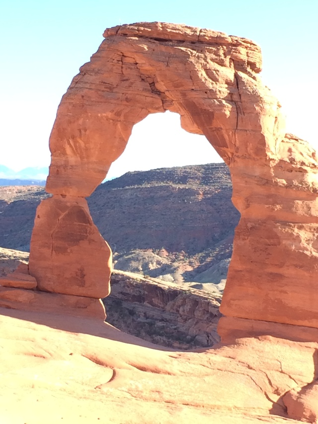 Delicate Arch.  This is the one on the Utah license plates