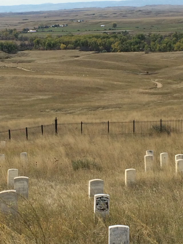 Last Stand Hill Body Markers.  Custer's is the Blackened Stone.