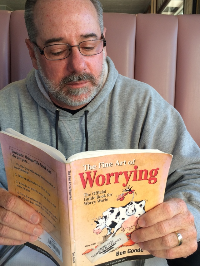 Bob got some reading in at breakfast