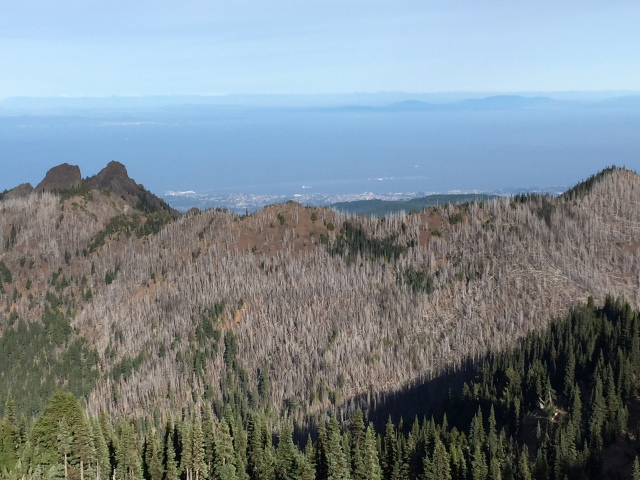 Looking North towards Vancouver Island and Victoria