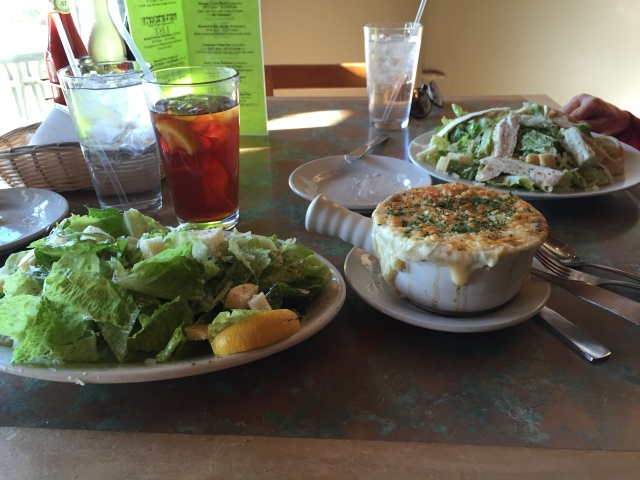 Soup and Salad at JJ's Fish House in Poulsbo