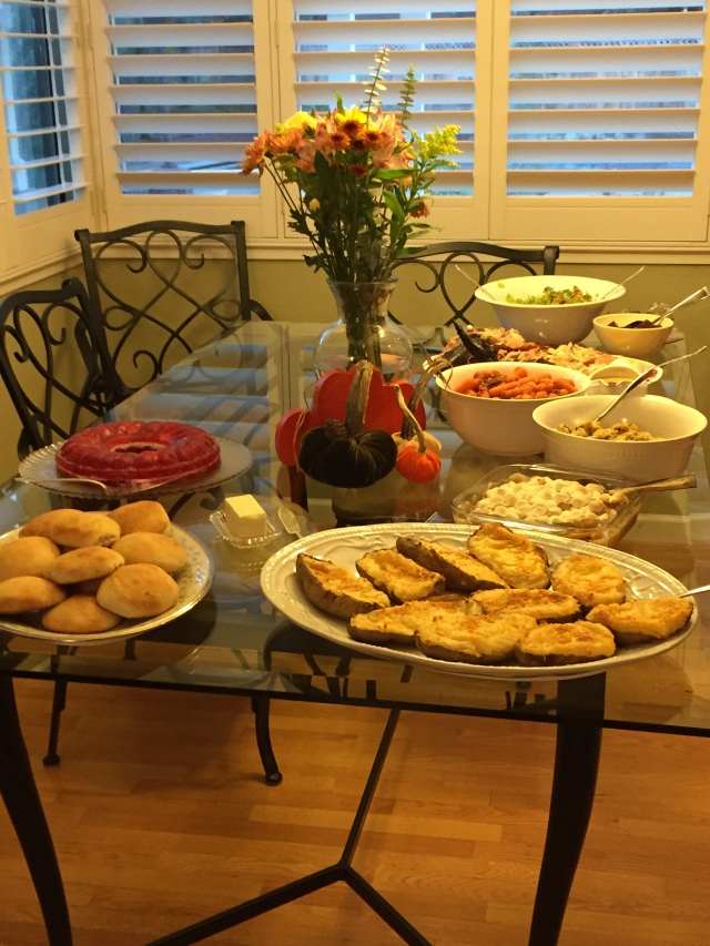 The buffet is looking good.....Adam, where are the turkeys?