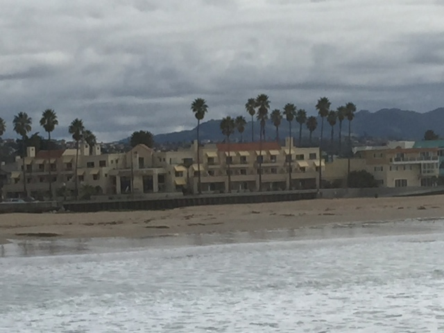 View of our hotel from the pier