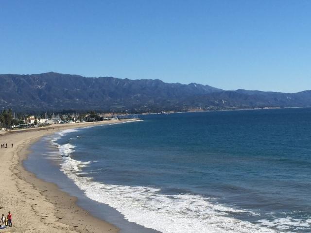 Santa Barbara beach viewed from the cliffs