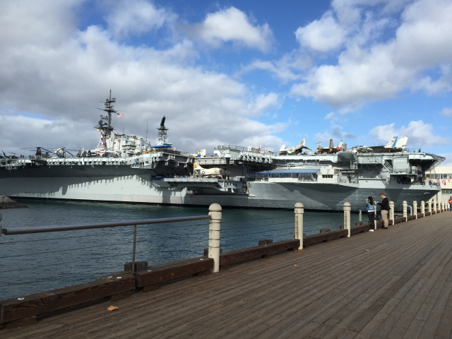 Toured the aircraft carrier USS Midway