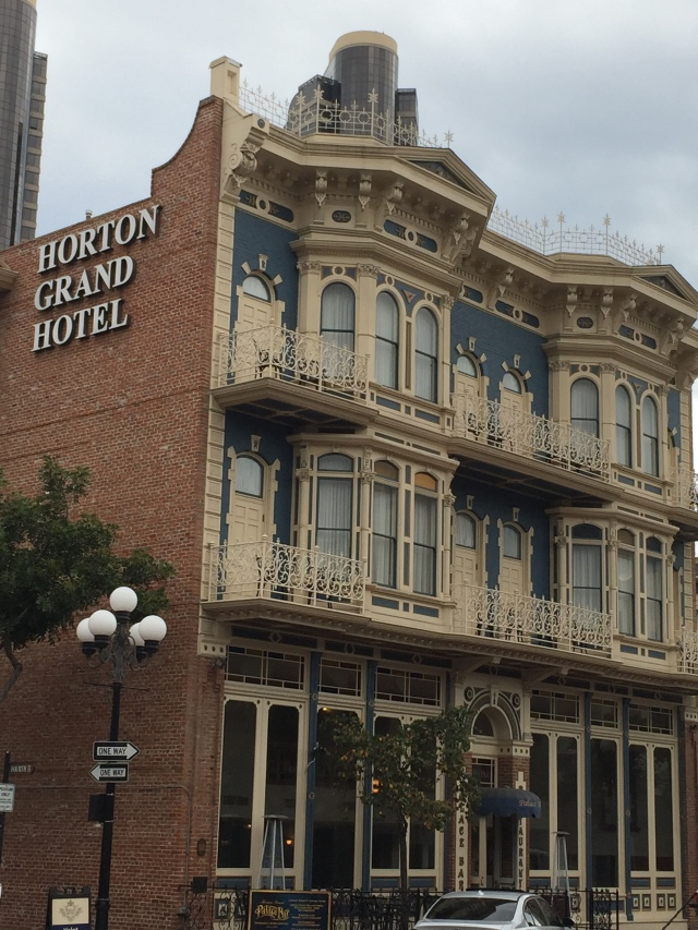 Horton Grand Hotel is really something.  Beautifully restored the inside is just as impressive as the outside.  Wyatt Erp lived here most of his 7 years in San Diego.