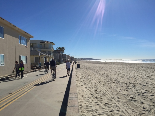 Ocean Front Walk on Mission Beach