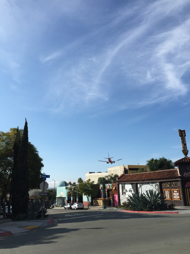 Our walk to Old Town took us directly under the flight-path to San Diego International