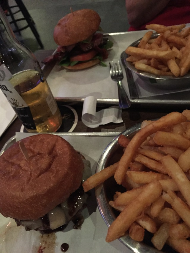 For a change of pace we had burgers and fries at Werewolf tonight
