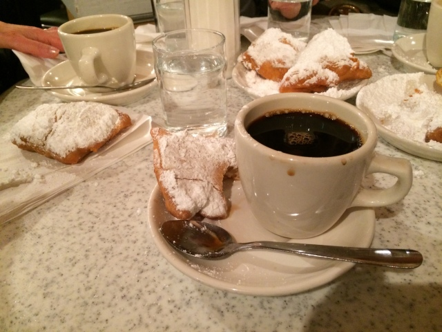 and Beignets from Cafe Du Monde