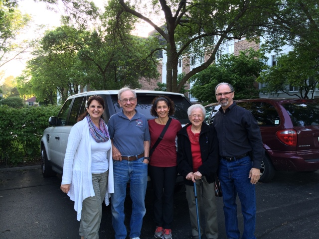 Alice and Elliot Rosenberg took us to a great dinner at the Contential in Buffalo Grove