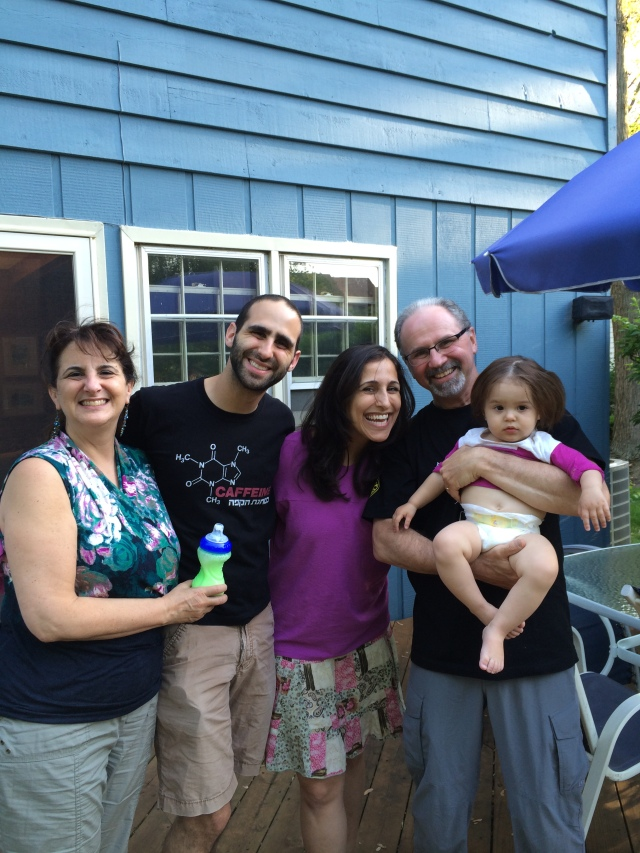 Chuck and Rachel Rosenberg had us for dinner with Ari, Letal,and grandaughter dldke