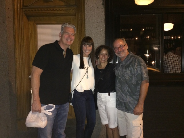 Bruce and (sorority sister) Jan Krawetz were also in Boston on business.  We met for dinner in