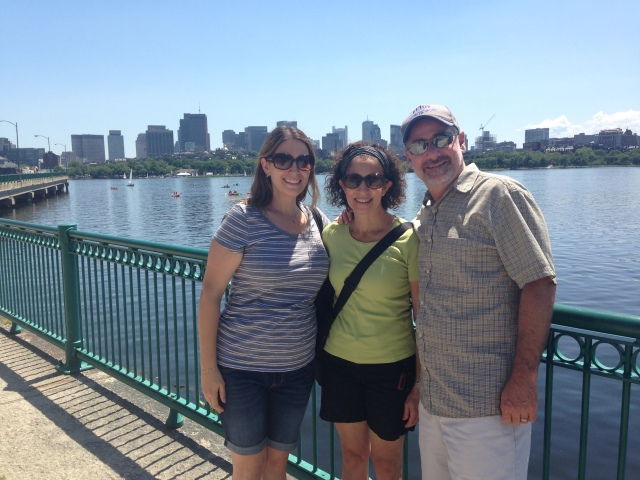 The pregnant version of cousin Stephanie Rubin extended a business trip to join us for a couple days in Boston