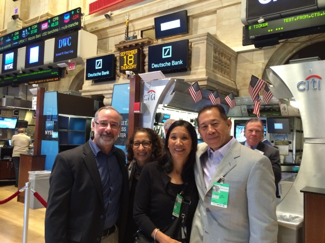 We found Dave and Louise Fong in NYC and they took us to the NYSE!