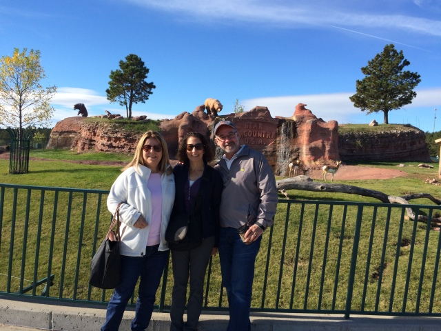 Cousin Jill met us in South Dakota, Wyoming and Colorado