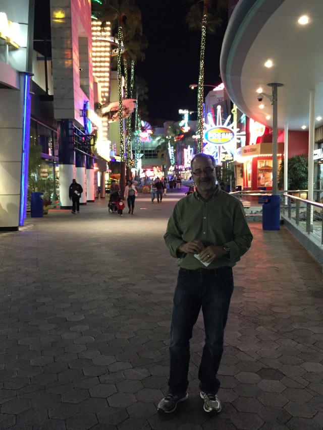 At the Universal City Walk for dinner