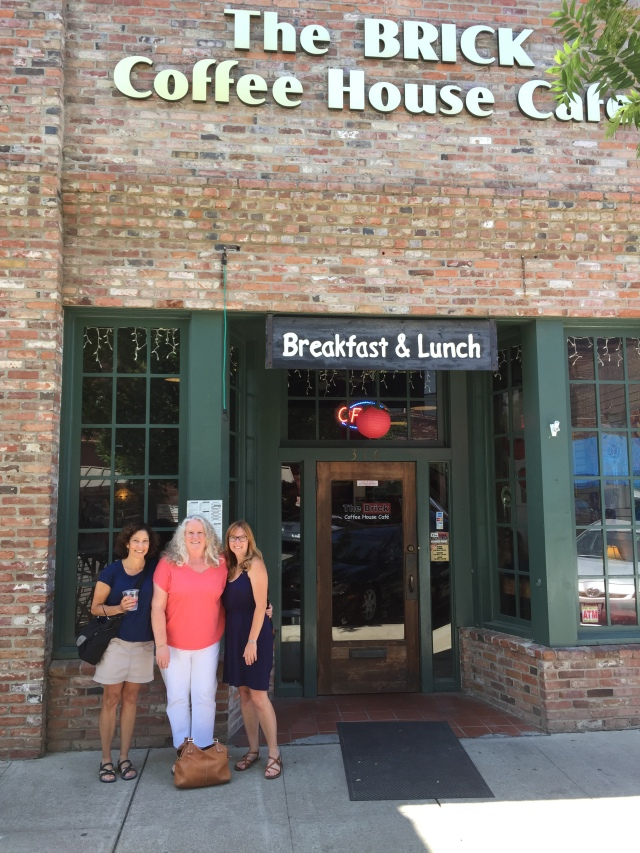 First stop. lunch with Julie and Carrie