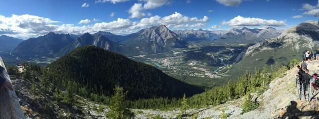 Made it!  Town of Banff below